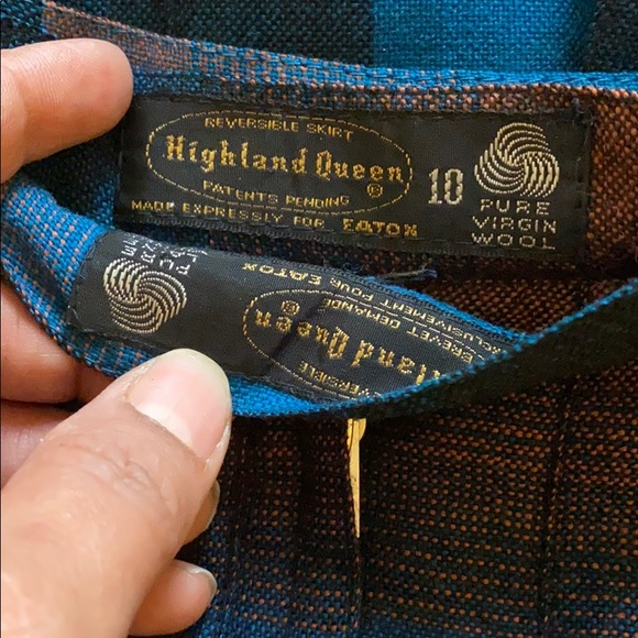 Vintage Reversible pleated skirt 💯  wool